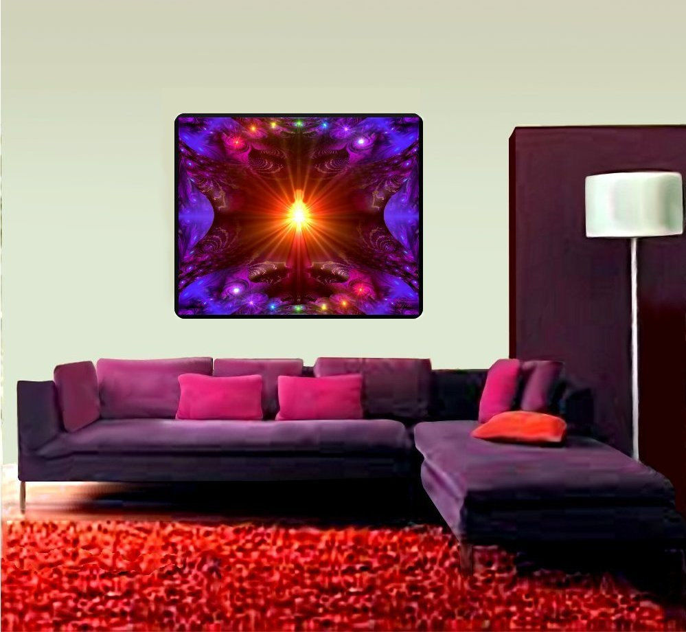 Huge meditation room wall decor chakra art tapestry the for 40s room decor