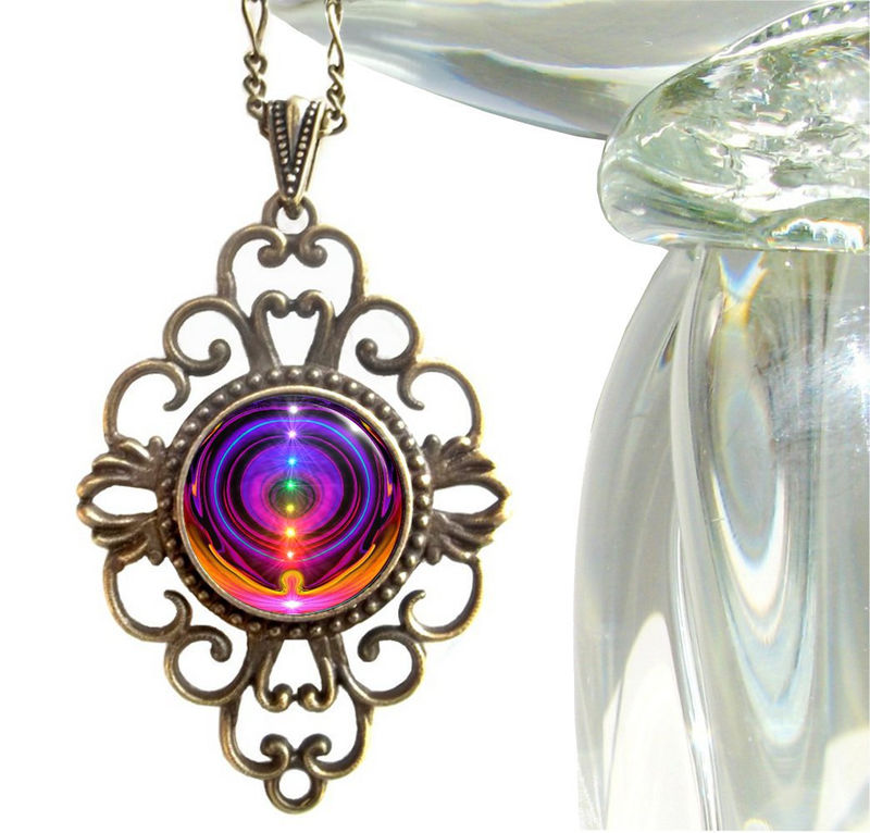 free shipping chakra necklace product energy purple amethyst products shots
