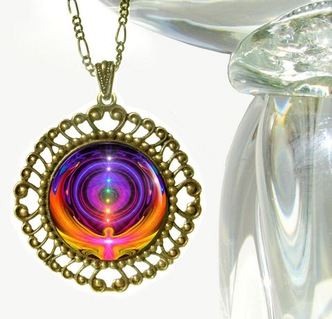 Rainbow,Chakra,Necklace,,Spiritual,Healing,Pendant,,Chakra,Alignment, metaphysical, rainbow, abstract, necklace, pendant, pendant necklace, reiki, healing, energy, spiritual, jewelry, meditation, chakras, angel, yoga, alternative healing, visionary, art