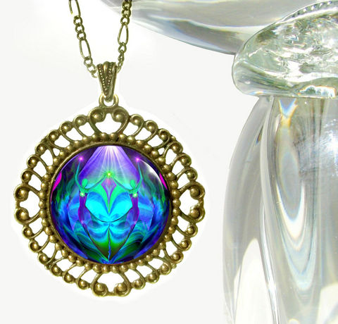 Purple,&,Teal,Twin,Flames,Jewelry,,Hippie,Necklace,,Chakra,Pendant,Unity, metaphysical, blue, purple, teal, abstract, necklace, pendant, pendant necklace, reiki, healing, energy, spiritual, jewelry, meditation, chakras, angel, yoga, alternative healing, visionary, art
