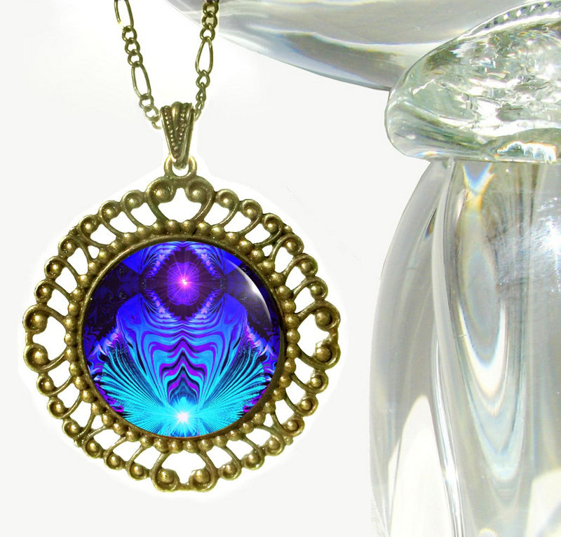Throat chakra necklace purple and teal reiki jewelry intuitive throat chakra necklace purple and teal reiki jewelry intuitive truth product aloadofball Gallery
