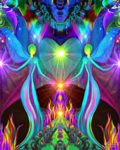 Twin,Flames,,Chakra,Art,,Violet,Flame,,Heart,Love,twin flames, twin souls, violet flame healing, violet flame, chakra art, reiki art, visionary art, rainbow art, angel art, digital art, psychedelic art, yoga room, meditation, spiritual art, wall decor, wall art, wall hanging, art print, healing art, reik