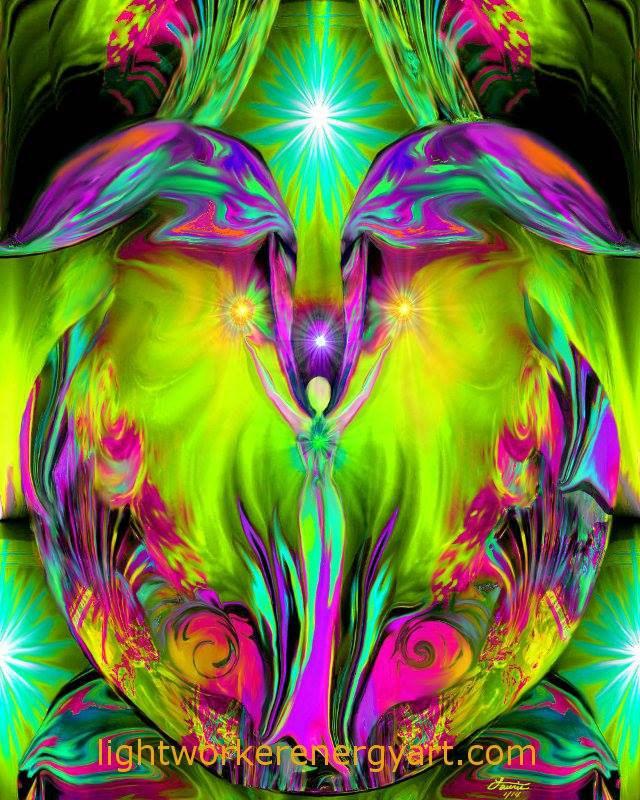Chakra Angel Art Reiki Healing Energy Meditation Decor