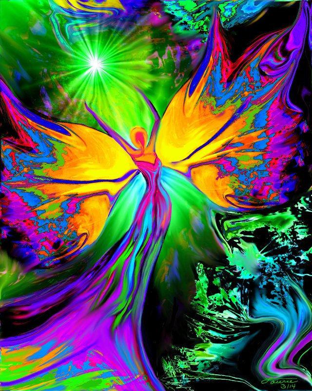 Pics photos chakra art angel healing rainbow reiki energy art decor