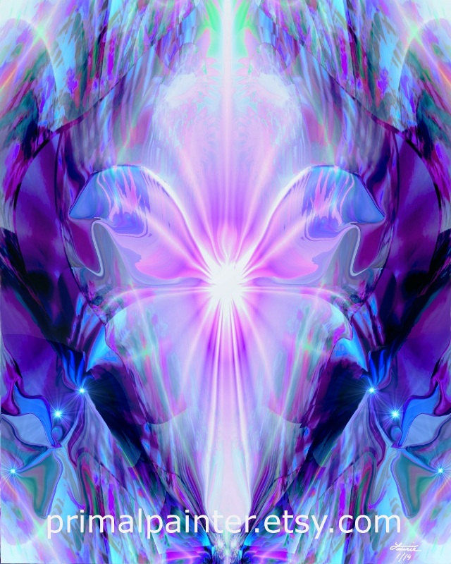 Crown Chakra White Or Violet Collection Primal Painter
