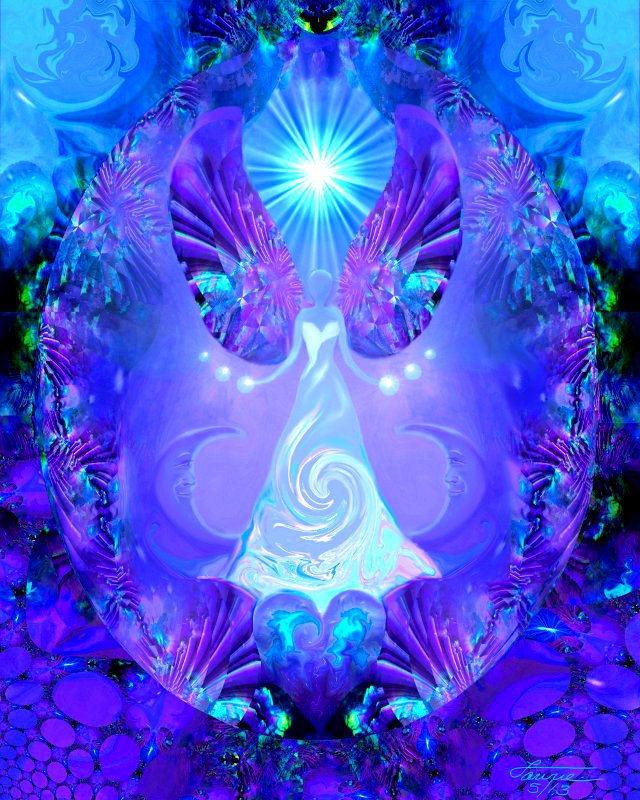 Reiki Art Violet Blue Angel Chakra Wall Decor Quot Hope