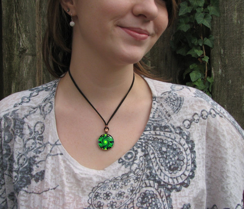 "Heart Chakra Jewelry, Green Necklace, Reiki Pendant ""Heart Chakra Healing""  - product images  of"