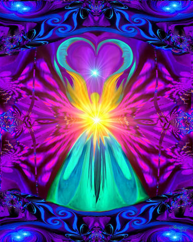 Rainbow,Wall,Decor,,Angel,Art,,Reiki,Energy,Healing,The,Beacon,violet flame healing, violet flame, chakra art, reiki art, visionary art, rainbow art, angel art, digital art, psychedelic art, yoga room, meditation, spiritual art, wall decor, wall art, wall hanging, art print, healing art, reiki healing, energy healing