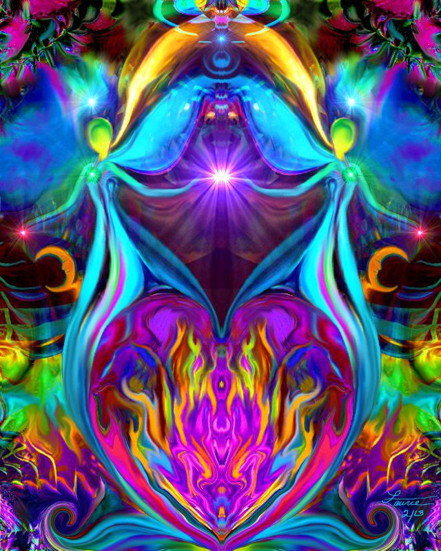 Violet Flame Art Reiki Healing Energy Twin Flame Wall
