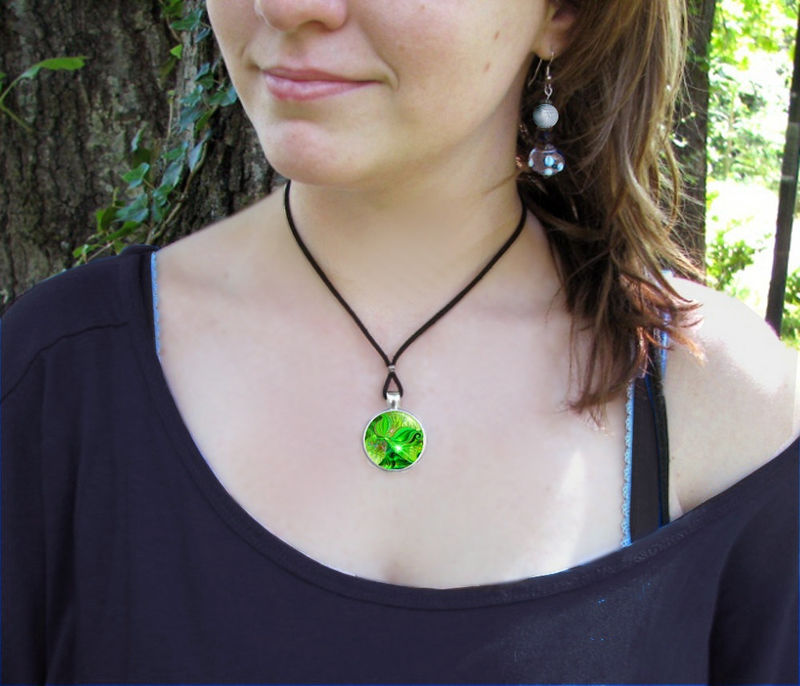 "Heart Chakra Jewelry, Green Angel Necklace, Reiki Healing Pendant ""Heart Healer"" - product images  of"