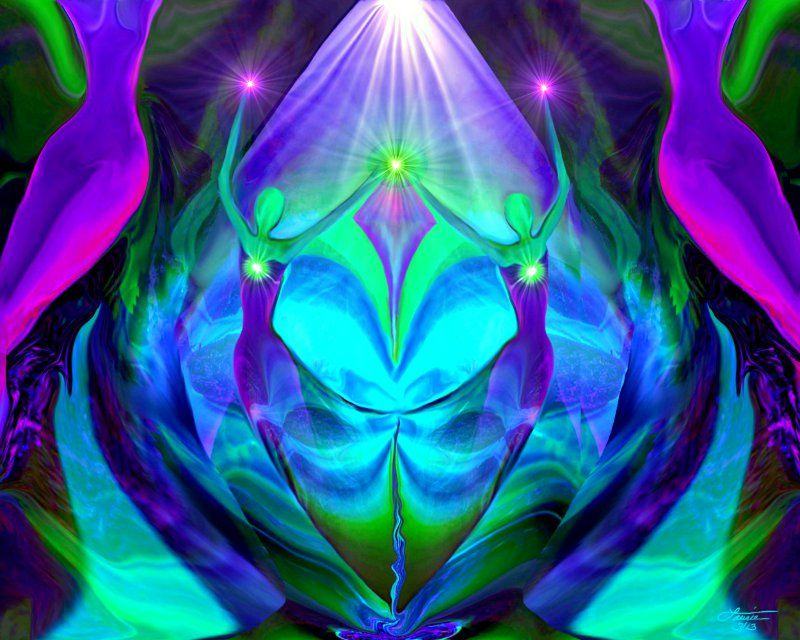 Unity And Balance In Art : Angel art twin flames heart quot unity primal painter