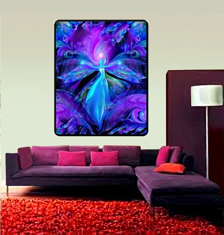 "Large Reiki Tapestry Energy Healing Third Eye Art ""The Seer""   - product images  of"