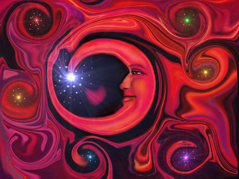 Chakra,Art,,Wall,Decor,Moon,Abstract,Energy,Art,Print,,Red,at,Night,moon, night sky, red moon, primal painter, primalpainter, twin flames, twin souls, violet flame healing, violet flame, chakra art, reiki art, visionary art, rainbow art, angel art, digital art, psychedelic art, yoga room, meditation, spiritual art, wall d
