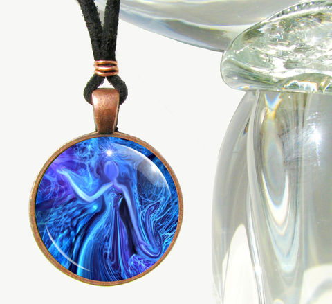 Blue,Pendant,Necklace,,Energy,Art,Jewelry,,Reiki,The,Healer, art jewelry, blue necklace, purple pendant, energy healing, reiki, chakras, pendant necklace, handmade, fantasy, healing, energy, spiritual, jewelry, hippie, boho, bohemian, festival, chic, new age, psychedelic, metaphysical, abstract, meditation, chakra