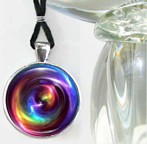 Chakra,Art,Necklace,,Reiki,Energy,Pendant,,Rainbow,Swirl,Jewelry, art jewelry, rainbow necklace, swirling pendant, energy healing, reiki, chakras, pendant necklace, handmade, fantasy, healing, energy, spiritual, jewelry, hippie, boho, bohemian, festival, chic, new age, psychedelic, metaphysical, abstract, meditation, c