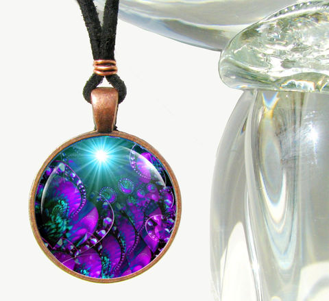 Purple,Art,Jewelry,,Chakra,Necklace,,Third,Eye,Worlds,Within,Worlds, art jewelry, teal necklace, purple pendant, energy healing, reiki, chakras, pendant necklace, handmade, fantasy, healing, energy, spiritual, jewelry, hippie, boho, bohemian, festival, chic, new age, psychedelic, metaphysical, abstract, meditation, chakra
