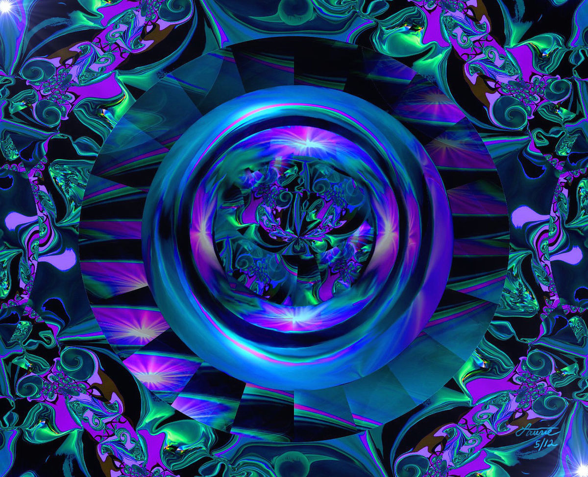 abstract art third eye chakra wall decor reiki energy