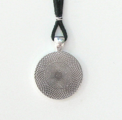 Chakra Necklace, Reiki Jewelry, Energy Pendant Necklace Silver - product images  of