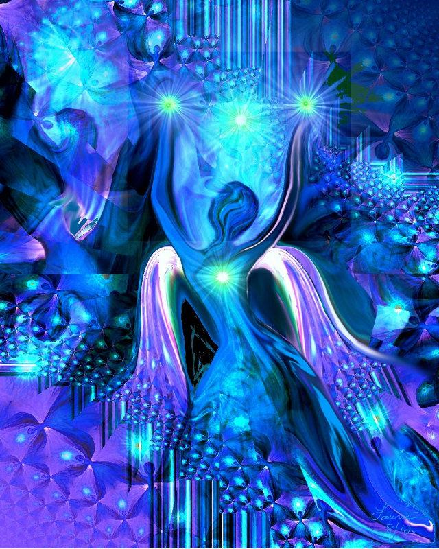 Blue Angel Decor Reiki Healing Art Alignment Primal