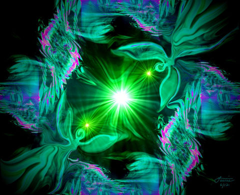 Twin,Flames,Angel,Art,,Green,Wall,Decor,,Heart,Chakra,Print,Angel,Hearts,green heart, heart chakra, green art, green decor, primal painter, primalpainter, twin flames, twin souls, violet flame healing, violet flame, chakra art, reiki art, visionary art, rainbow art, angel art, digital art, psychedelic art, yoga room, meditatio