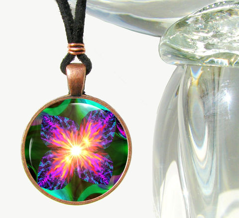 Violet,Flame,Necklace,,Reiki,Energy,Pendant,,Unique,Jewelry,Chakra,Flower, necklace, pendant, pendant necklace, reiki, healing, energy, spiritual, jewelry, chakras, hippie, boho, bohemian, festival, chic, new age, psychedelic, metaphysical, fuschia, purple, teal, abstract, meditation, angel, yoga, alternative healing,