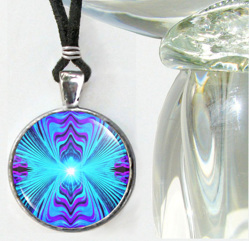 "Throat Chakra Jewelry, Purple Teal Jewelry, Reiki Necklace ""Intuitive Truth"" - product images  of"
