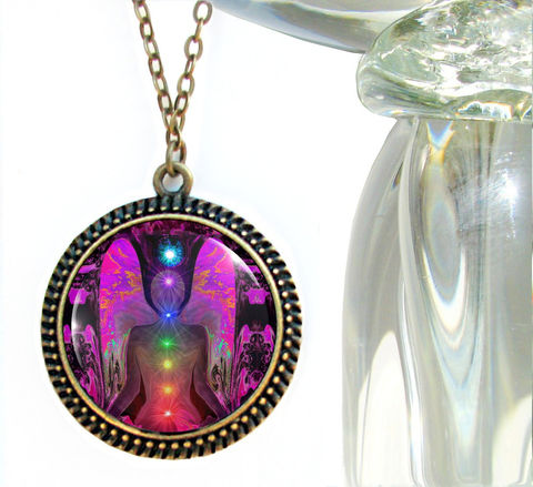 Chakra,Jewelry,,Angel,Necklace,,Rainbow,Reiki,Balance,Within,Chaos,chakras, metaphysical, rainbow, abstract, necklace, pendant, pendant necklace, reiki, healing, energy, spiritual, jewelry, meditation, chakras, angel, yoga, alternative healing, visionary, art, original, unique