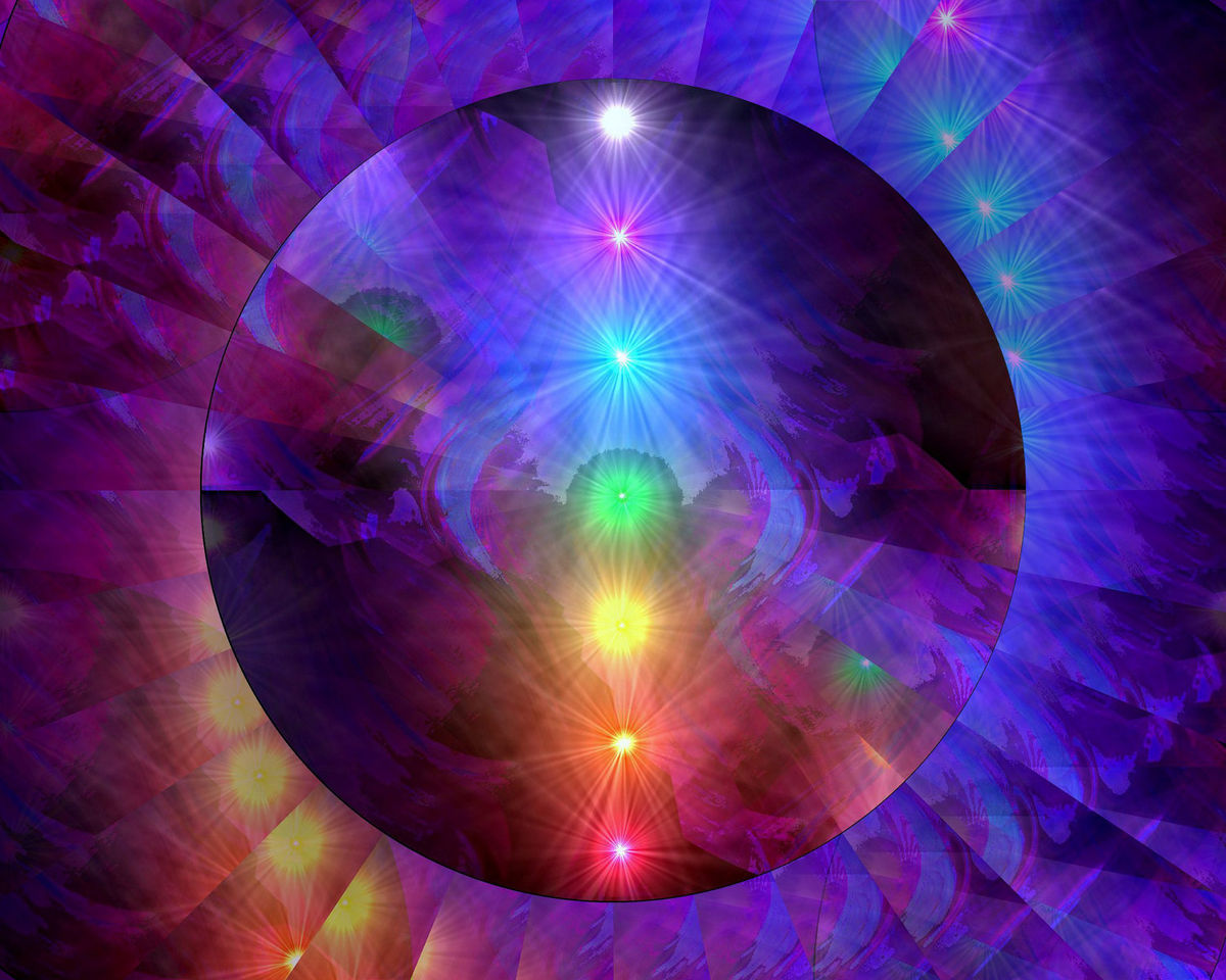 Chakra Art Rainbow Decor Reiki Energy Art Abstract