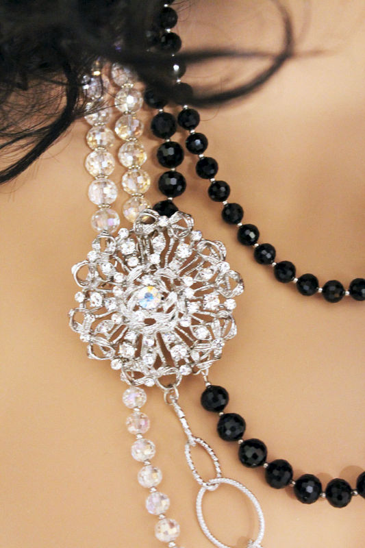 Elegant Crystal Statement Necklace - product images  of
