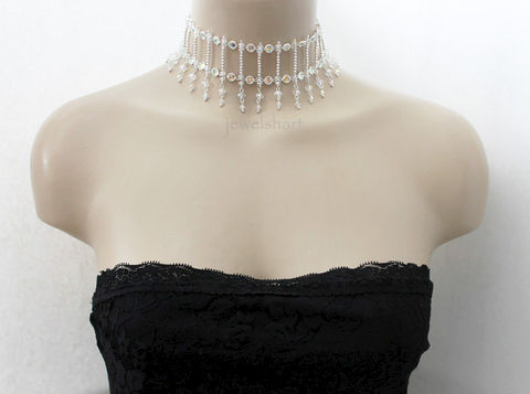 Swarovski,Crystal,Bridal,Choker,Necklace,Jewelry,crystal_choker,victorian_choker,bridal_choker,bridal_necklace,wedding_jewelry,swarovski_crystal,sterling_silver,beaded_necklace,choker_necklace,special_occasion,crystal_necklace,bead_choker,elegant_jewelry,swarovski crystals,sterli