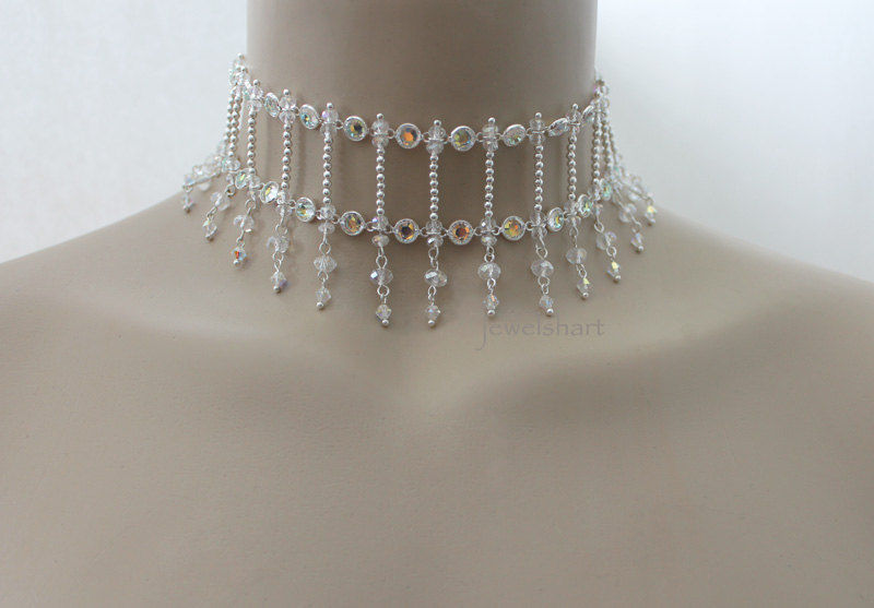 Swarovski Crystal Bridal Choker Necklace - product images  of