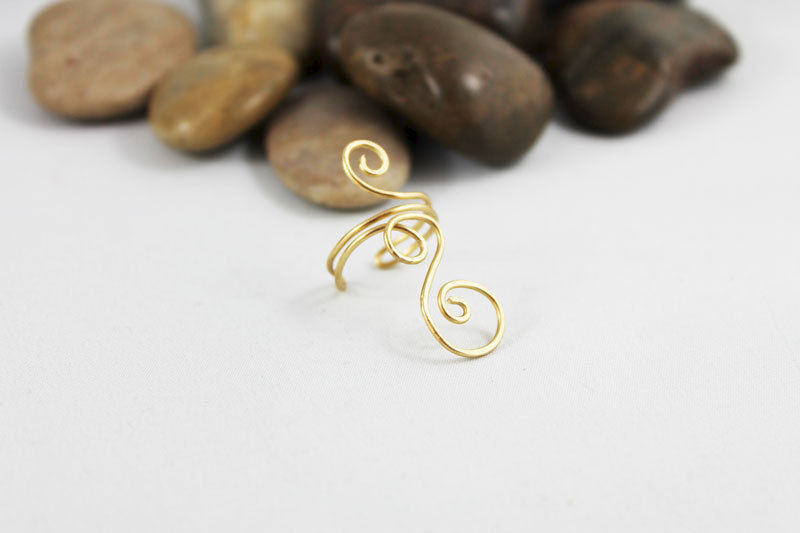 Swirl Knuckle Ring TRG101 - product images  of