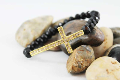 Black,Shiny,Bead,Sideways,Cross,Bracelet,Jewelry,Beaded,sideways_cross,side_ways_cross,cross_bracelet,cross_braclet,sideway_cross,stretch_bracelet,gold_cross_bracelet,gold_sideways_cross,beaded_bracelet,black_shiny,religious_bracelet,gold_cross,religious_jewelry,crystal beads,rhinestone