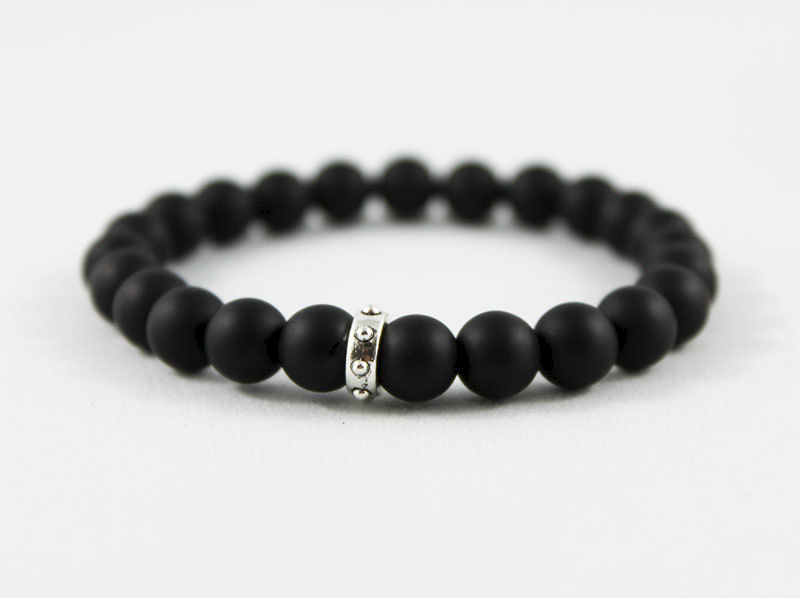 Unisex Black Matte Onyx Bracelet - product images  of