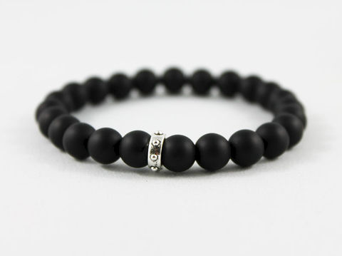 Unisex,Black,Matte,Onyx,Bracelet,Jewelry,Beaded,onyx_bracelet,stacking_bracelet,black_bracelet,beaded_bracelet,stretch_bracelet,stretchy_bracelet,mens_bracelet,bead_bracelet,womens_bracelet,unisex_bracelet,mens_black_onyx,matte_onyx,mens_jewelry,onyx beads,elastic cord,silver pl
