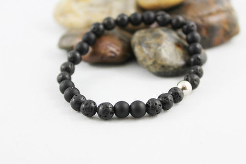 Men's,Stretch,Lava,Bead,Bracelet,Jewelry,Beaded,onyx_bracelet,stacking_bracelet,black_bracelet,beaded_bracelet,stretch_bracelet,stretchy_bracelet,mens_bracelet,bead_bracelet,womens_bracelet,unisex_bracelet,mens_black_onyx,lava_bead_bracelet,matte_onyx,lava beads,onyx beads,elast