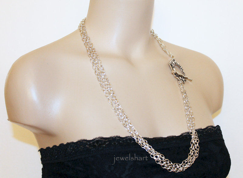 Women's Multi Strand Chain Necklace - product images  of