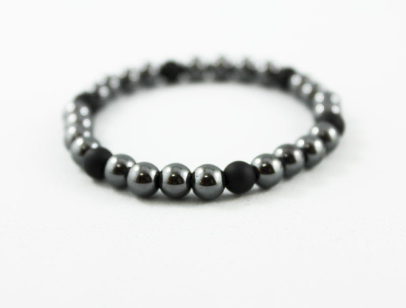 Unisex Hematite Black Onyx Bracelet - product images  of