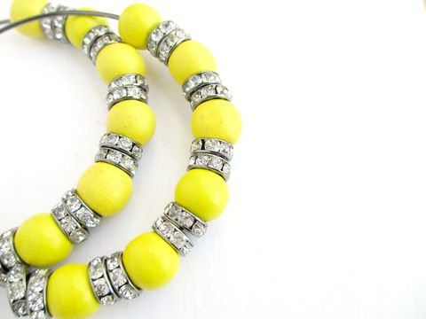 Banana,Boat,Hoop,Earrings,basketball wives hoop earrrings,large hoops,hoop earrings,yellow,gunmetal,rhinstone hoops,wooden beads,wooden hoops,banana yellow,rondelles