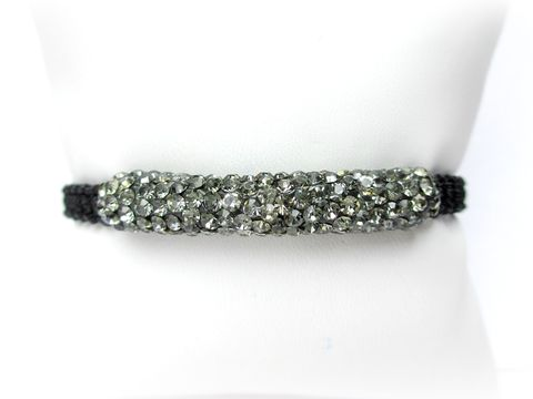 Grey,Pave,Bracelet,,Adjustable,pave bracelet,adjustable bracelet,beaded bracelet,beaded stretch bracelet,crystal rhinestone bracelet,grey Rhinestone bracelet