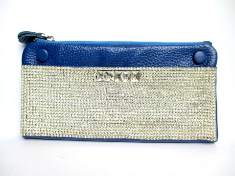 Blue,Leather,and,Rhinestone,Wallet,blue leather wallet,rhinestone wallet,royal blue,genuine leather
