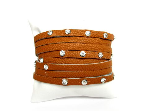 Brown,Leather,Wrap,Bracelet,Leather,Bracelet,Rhinestone,Bracelet,,Bracelet,rhinestone leather wrap, leather wrap bracelet, leather cuff bracelet,leather, brown leather bracelet