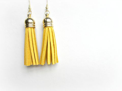 Gold,Top,Mustard,Yellow,Tassel,Earrings,,tassel,Earrings,tassel earrings,yellow tassel earrings,gold top tassel earrings,mustard tassel earrings