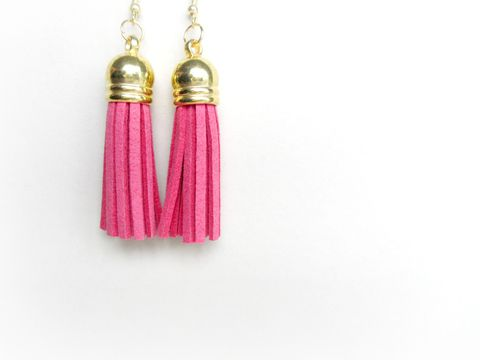 Pink,Tassel,Earrings,pink tassel earrings,tassel earrings