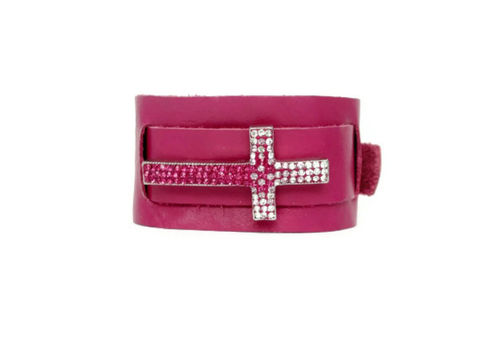 Fuchsia,Leather,Cross,Cuff,Bracelet,hot pink cuff bracelet,cuff bracelet,cuff, leather cuff,leather bracelet,fuchsia,hot pink,cross cuff,cross bracelet