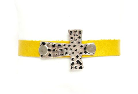 Yellow,Leather,Cross,Cuff,Bracelet,yellow cuff bracelet,leather cuff bracelet,cuff,yellow cuff,yellow bracelet,leather cuff,yellow