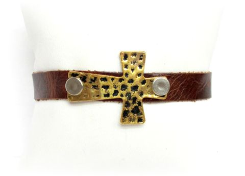 Brown,Cross,Cuff,Leather,Bracelet,leather cuff,leather bracelet,dark brown,brown cuff bracelet,cross cuff bracelet,leather cross bracelet