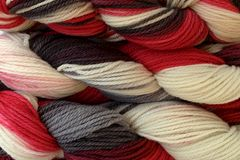 Lucky,Draw,Hand,Dyed,Merino,Wool,Worsted,Weight,Hand Dyed, Merino Wool Yarn, Worsted Weight, Red, Black, White