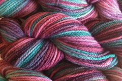 Desert,Cactus,Hand,Dyed,Merino,Wool,Yarn,Worsted,Weight,Hand Dyed Merino Wool Yarn Worsted Weight Pink Green