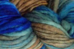 Blue,Grass,Hand,Dyed,Wool,Pencil,Roving,Bulky Yarn Hand Dyed Pencil Roving Green Blue Brown